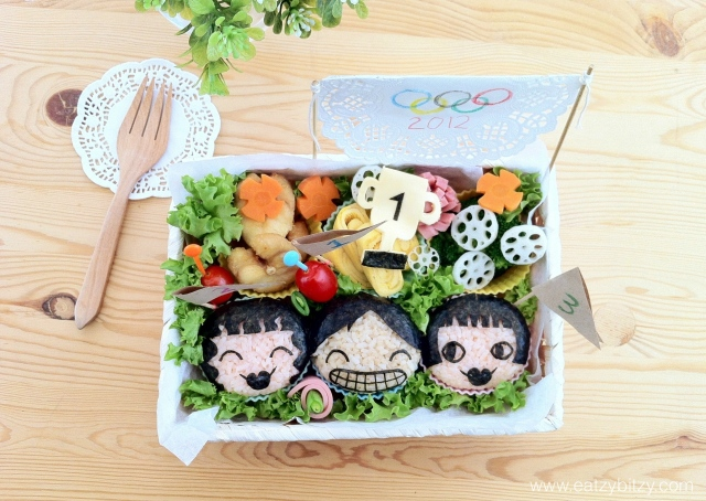 olympics, olympics bento, bento, obento, cute, cute bento, sports day, sports day bento, food, food art, creativity, creative food, art, kids, lunch box, cute lunch box, kawaii, leesamantha, samantha lee, malaysia, onigiri, cute onigiri