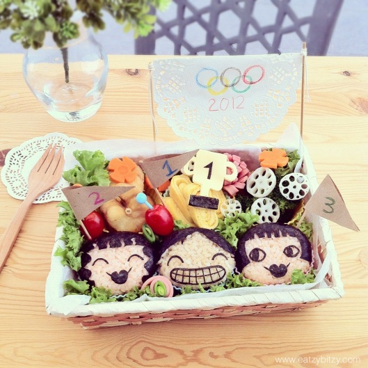 champion, olympics, olympics 2012, winner, bento, cute food, obento, food art, cute, bento art, kids, home cook, food, lunch box