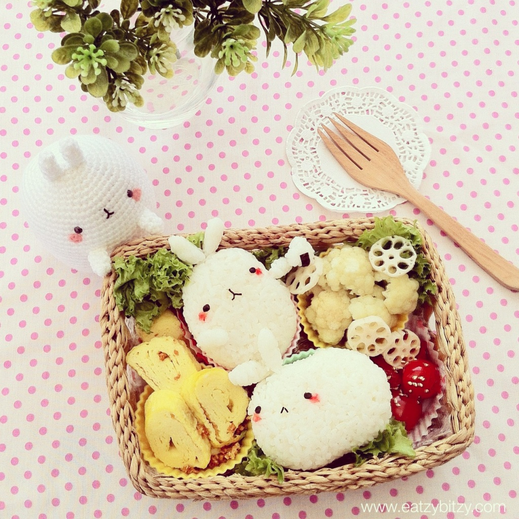 bunny, rabbit, molang korea, korean, malaysia, bunny bento, rabbit bento, kawaii, cute, cute bento, cute food, food, kawaii food, food art, creative food, creative bento, obento, kawaii bento,