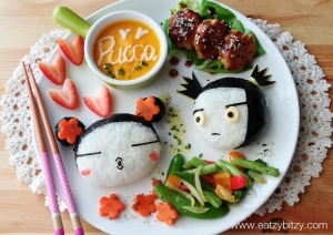 pucca, bento, obento, pucca bento. pucca food, cute, cute food, kyaraben, charaben, pucca and garu, leesamantha, samantha lee, leesamantha cute food, leesamantha bento, leesamantha kyaraben, hello kitty, soup, soup art, creativity, creative food, foodart, food art